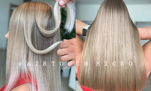 AirTouch MICRO. Itin retas plaukų dažymas, tačiau labai reikalingas