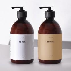 Plaukų kondicionierius ENZO Conditioner 500 g + Šampūnas visų tipų plaukams ENZO Shampoo All Hair Types 500 g