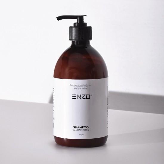 Šampūnas su Argano aliejumi visų tipų plaukams ENZO 500 g