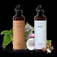 Šampūnas visų tipų plaukams ENZO Shampoo All Hair Types 250 g + Vaikiškas šampūnas kūno prausiklis ENZO Baby Wash 250 g