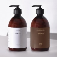 Plaukų kondicionierius 500 g + Šampūnas sausiems, garbanotiems plaukams ENZO 500 g