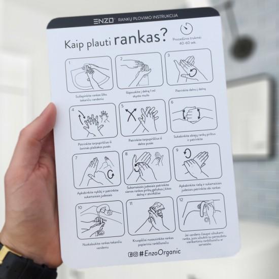 Rankų plovimo instrukcija ENZO