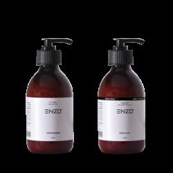 Plaukų kondicionierius ENZO Conditioner 250 g + Kūno pienelis ENZO Body Milk 250 g