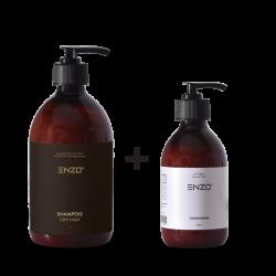 Šampūnas sausiems plaukams ENZO Shampoo Dry Hair 500 g +Plaukų kondicionierius ENZO Conditioner 250 g