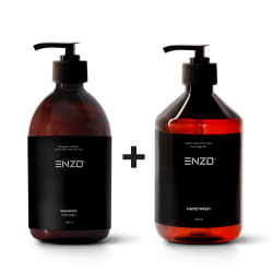 Vyriškas šampūnas ENZO For Men Shampoo 500 g + Rankų prausiklis ENZO Hand Wash 500 g