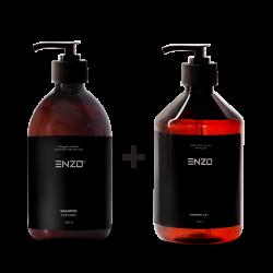 Vyriškas šampūnas ENZO For Men Shampoo 500 g + Dušo gelis ENZO Shower Gel 500 g